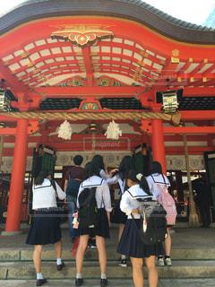 学生,修学旅行,制服,女子高生,生田神社,三宮