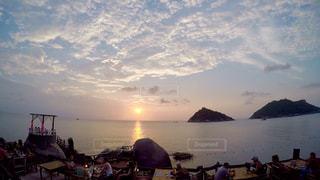 自然,空,夕日,屋外,ビーチ,海岸,タイ,海外旅行,日中,タオ島
