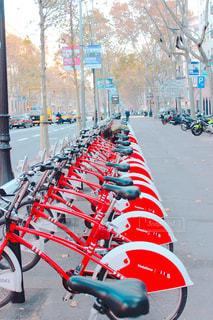 自転車,スペイン,バルセロナ,サイクリング,路上,レンタサイクル