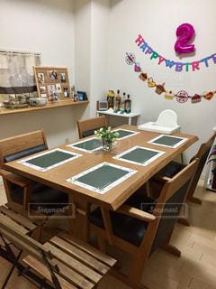 リビング,2歳,テーブルセッティング,お誕生日会,我が家,家族の集まり