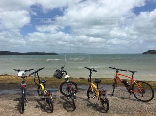 海,自転車,ビーチ,サイクリング,ニュージーランド