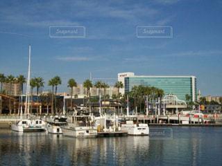 海,街並み,船,港,USA,サンタモニカ