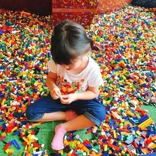 LEGOに夢中の写真・画像素材[3591746]
