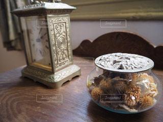 アンティーク,時計,古い,明治村,ゴールド,クラシカル,置き時計,サシェ,古い時計