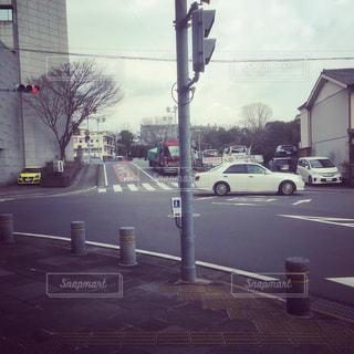 車,道路,自動車,横断歩道,信号機,交差点,長崎県,諫早市