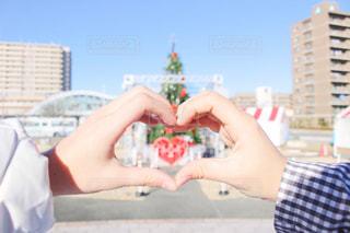 カップル,手,ハート,クリスマス,クリスマスツリー