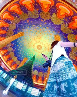 エメラルドの天井☆ワットパクナムの写真・画像素材[950231]