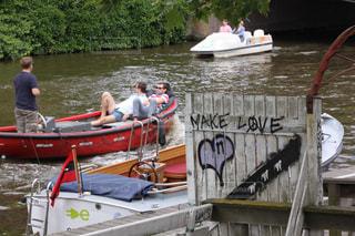 風景,自由,船,ハート,オランダ,海外旅行
