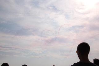 風景,空,飛行機,ハート,フランス,海外旅行,フライトショー