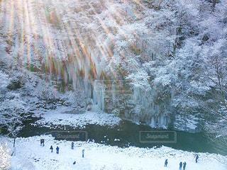 冬,雪景色,秩父,三十槌の氷柱
