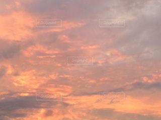 空,夕日,オレンジ