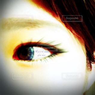 目,青色,カラコン