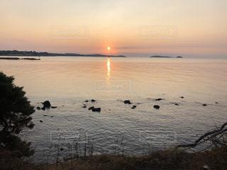 風景,空,屋外,太陽,ビーチ,水面,地中海,日の出