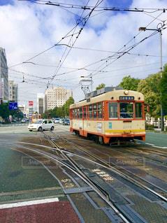 風景,電車,路面電車,景色,街,松山市,愛媛県,道後温泉