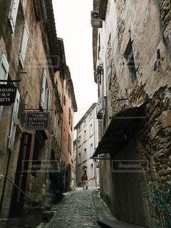 フランス 最も美しい村のひとつ、ゴルドの街並み。石造りの家。の写真・画像素材[1219490]