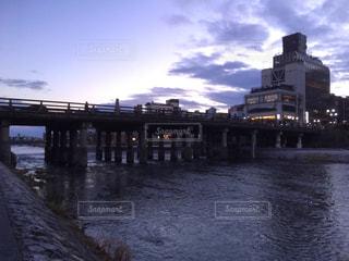 冬,橋,京都,夕暮れ,KYOTO,鴨川,winter,river,bridge,三条大橋,三条,Sanjyo
