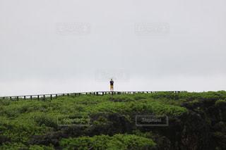 緑豊かな緑のフィールドに立っている人の写真・画像素材[812472]