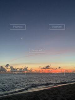 自然,風景,空,屋外,湖,ビーチ,雲,夕暮れ,水面,海岸,星,月,金星