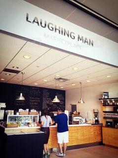 カフェ,ニューヨーク,NY,laughing man coffee,ヒュー・ジャックマン
