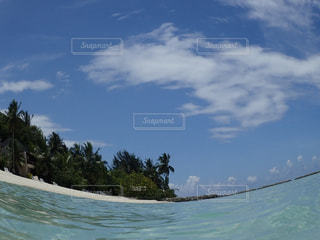 青い空と青い海の写真・画像素材[1126118]