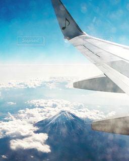 自然,空,富士山,白,雲,飛行機,山,上空,ホワイト