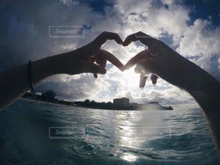 海,海外,ハート,グアム,beach,GUAM,heart