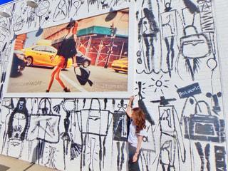 壁,ロサンゼルス,メルローズ,オシャレな壁,かわいい壁部