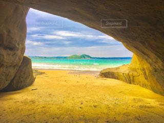 海,ビーチ,青空,島,青,砂浜,鹿児島,離島,種子島,白砂,千座の岩屋