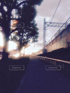 水の体の上の橋の写真・画像素材[1300853]