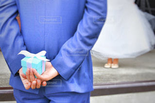 紺のスーツの人の写真・画像素材[826239]