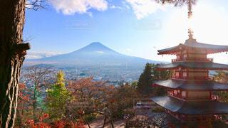 秋,富士山,絶景,紅葉,癒し,パワースポット,山梨県,五重の塔,新倉山浅間公園,浅間神社