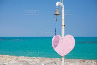 海,夏,南国,青空,沖縄,ハート,メッセージ,南城市,ハートボード