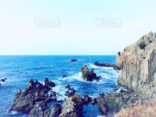 海,旅行,快晴,福井,日本海,東尋坊