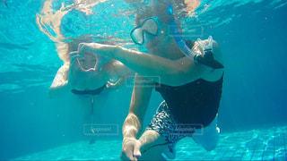 夏,カップル,プール,暑い,楽しい,ハート,旅行