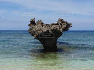 海,空,夏,沖縄,ハート,旅行,ハート岩