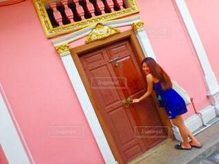 ピンクの可愛い壁の写真・画像素材[854204]