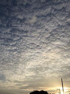 空,夕日,雲,秋空
