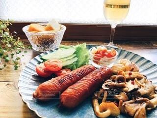 食事,肉,料理,夕食,ソーセージ,ジューシー,おつまみ,ウィンナー,ジョンソンヴィル