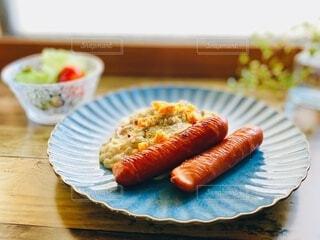食事,朝食,昼食,肉,料理,ソーセージ,ジューシー,ブランチ,おつまみ,ウィンナー,ジョンソンヴィル