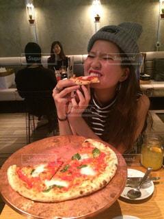 笑顔,幸せ,ご飯,おいしい,ピザ