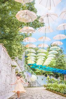 傘を持った人の写真・画像素材[4799080]