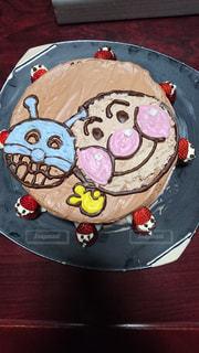ケーキ,苺,生クリーム,手作り,アンパンマン,チョコケーキ,バイキンマン