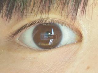 目,フラッシュ,裸眼,眼球,右目