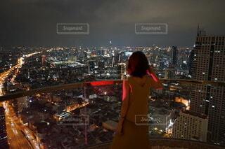 バンコクの夜景の写真・画像素材[4127178]