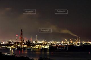 夜の街の景色の写真・画像素材[1693674]