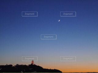 風景,空,夕日,夜空,夕焼け,江ノ島,陽射し,秋空