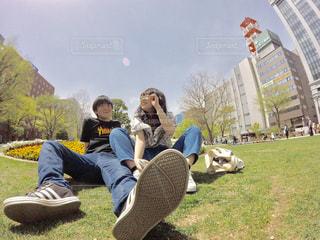 2人の写真・画像素材[476355]