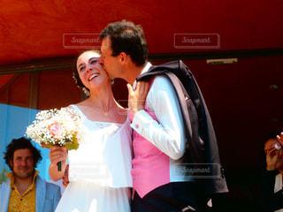 男と女の画像のポーズはの写真・画像素材[1776384]