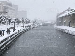 雪の小樽の写真・画像素材[1053338]