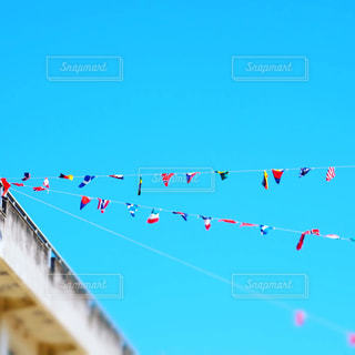 風景,空,綺麗,青空,国旗,旗,運動会